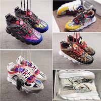 للجنسين منصة مريحة صدمة عارضة أحذية رياضية سلسلة التفاعل الأحذية الجلدية المدربين الكلاسيكية أوريجينالز المرقعة الأحذية في الهواء الطلق الدانتيل متابعة طباعة أحذية المشي
