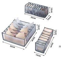 Opvouwbare lade Slaapkamer Closet Organizer voor Sokken Ondergoed Organizador Opbergdoos BH Divider Rangement Boxes HWF9111