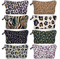 Cosmetic Bag Leopard Printing Waterproof Makeup Bag Ladies Storage Bag Simple Fashion Travel Pouch Wallets Totes Zipper Handbag FY4944