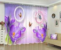الستار الستائر بابون الأرجواني زهرة 3D الطباعة الرقمية ديي بو المتقدمة مخصص