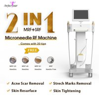 CE approved fractional rf needle korea microneedle therapy face lifting scars removal stretchmarks remove machine 20 tips free 2 handles 0.3-3.0mm depth