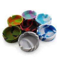 Silicone Soft Round Ashtray Ash Tray Holder Luminous Portable Anti-scalding Cigarette Multicolor