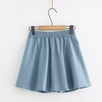 Elastic High Waist Denim Skirt for Women's 2021 Summer Dress XY1D