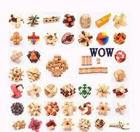 Kongming Lock Adulto y Niño Beneficio Inteligencia Desbloqueo Creativo Desmontaje y Montaje de juguetes de madera y regalos LUBAN LOCK LOTE