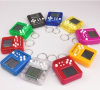 Keychain Game Console Toys Mini Cube Puzzle Cartoon Creativity Fun Children Kid Adult Interactive Random Color