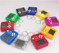 Keychain Game Console Toys Mini Cube Puzzle Cartoon Creativity Fun Children Kid Adult Interactive Random Color
