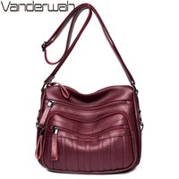 Vanderwah три кармана Летние сумки для женщин 2018 женщин Crossbody Messenger Сумка Женщины Сумка на плечо мешок Главная Femme Bolso Mujer