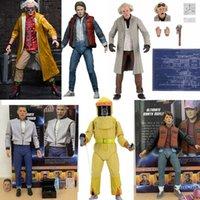 Marty McFly Doc Brown Figure Neca Zurück zum Zukunft Sport Almanach Martin Biff Tannen Modell Spielzeug Puppe