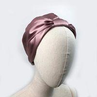 Beanie Skull Caps Women Sleep Hat Soft Pure Silk Charmeus Night Cap Hair Bonnet Comfortable Head Cover Wide Elastic Band Loss