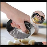 Fruit Vegetable Manual Presser Stainless Steel Curved Ginger Grinding Slicer Chopper Garlic Presses Cooking Gadgets Kitchen Tools Xwhf Hxg0R