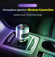BC41 자동차 FM 송신기 AUX 변조기 무선 핸즈프리 자동차 키트 자동차 오디오 MP3 플레이어 빠른 충전 TF 카드 슬롯