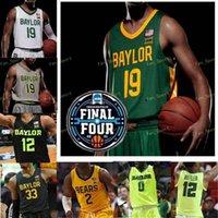 NCAA Basquetebol Final Quatro Baylor Bears College Jersey 24 Matthew Mayer 32 Zach Loveday 23 Jonathan Tchamwa Tchatchoua Turner Manu Lecomte