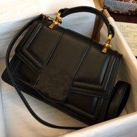 Bolsos para mujer Bolsos de alta calidad Genunie Cuero Cross Body Bag Retro Metal Pearls Bolsas de hombro Tote Detachable Ajustar Flap Bolso