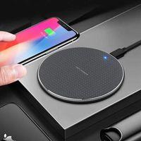 Chargeur sans fil rapide 10W pour iPhone 11 PRO XS Max xr x 8 Plus 12 Samsung Galaxy S10 S9 S8 Note 9 USB QI Charging Pad