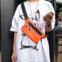 2021 Verano Mini Bolsa de cintura deportiva Auricular Agujero Bolsas de pecho Personalidad de los hombres Marca de moda Cruz Transparente Llevar Mochila Mujeres