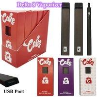 Disposable CAKE Vape Pens Full Gram Pods for Delta 8 Rechargeable 270 mAh Vape Battery Empty Ceramic Carts starter kit Bottom USB port Disposables E-cigarette with box