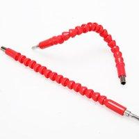 Tenedor de cepillos de dientes Bits de eje flexible Exención Destornillador Tenedor de broca Tenedor de bits de conexión enlace rojo