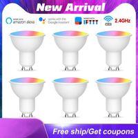 Lampadine dimmerabili GU10 LED Lampada LED RGB 5W WiFi Smart Bulb Bluetooth App Control 10W IR Remote Colore Light 85-265V per casa