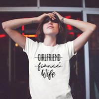 Girlfriend Fiance Wife Future Mrs Women Tops Tumblr Tee Engagement Bachelorette Party Trendy Casual Tshirts