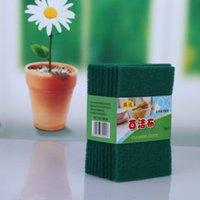 Verde oscuro duradero resistente scour scour almohadilla scrub de scrub de esponja de esponja sin rasguño limpieza limpieza GGA5087