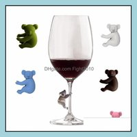 Tools Barware Kitchen, Dining Bar Home & Gardenkoala Recognizer Cup Sile Identifier Tags Party Wine Glass Dedicated Tag 6Pcs Set Drop Delive