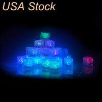 Polycherome Flash Ice Cub Цвета освещает свинцовый кубик для напитка Белый Новый Ночная ночь Светопартия Освещение Бар Club Pub KTV USALight
