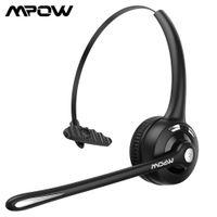MPOW BH453 Office Headphone Bluetooth 5.0 سماعة لاسلكية مع CVC 6.0 إلغاء الضوضاء MIC 16 ساعة وقت التحدث لسائق / مركز الاتصال