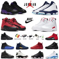 Dark Powder Blue Twist jumpman 12s 13s zapatillas de baloncesto para hombre 12 Utility reverse flu game gym Red flint 13 bred men entrenadores zapatillas deportivas con caja