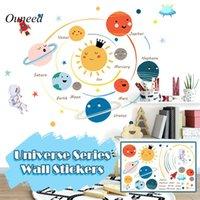 Wall Stickers Cartoon Universe Planet Sticker Kids Rooms Study Bedroom Decorations Wallpaper Mural Home Art Decals Nursery