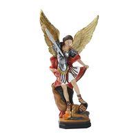Statua artigianato artigianato in resina Cattolica religiosa da 20 cm (8 pollici) Saint Michael Scultura Statue Artigiana Forniture artigianali La figurina ha grado