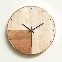 Wall Clocks Simple Clock Modern Design Wooden Bedroom Mute Home Decor