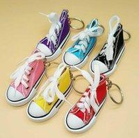 3d حذاء رياضة سلسلة المفاتيح قماش حلقة حلقة التنس الأحذية الطبطبات المفاتيح حامل حقيبة يد قلادة تفضل موك 200 قطع