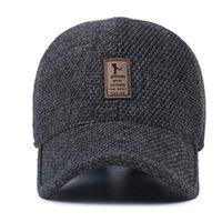 2020 Tunica Woolen Kniped Design Hombres de béisbol de invierno Los hombres espesan sombreros cálidos con los audífonos