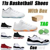 11 حذاء كرة السلة للرجال والنساء 11S حذاء رياضي منخفض كونكورد ولدت جاما قبعة زرقاء وثوب رجالي مدرب رياضي أحذية رياضية