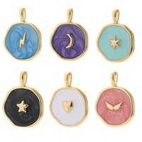 Moon Star Heart Designer Charms for Jewelry Making Supplies Bohemia Colorful Cute Pendant Charms Diy Earrings Necklace Charms