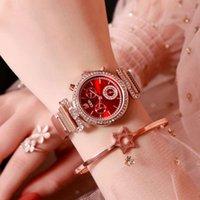 2019 New Girls 'Watch Water Broca Net Belt de Quartzo Relógio das Mulheres Moda Coreana Net Red Steel Belt Waterproof Watch's Watch's