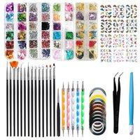 Nail Art Kits Kit,Nail Brush, 3D Decorations Kit With Pen Designer Dotting Tools