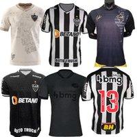Atlético 2021 2022 Atletico Mineiro Troisième Soccer Jerseys Manto da Massa 113 Edition spéciale 21 22 Fred Diego Costa Ootero Moura Elias Robinho Valdivia Black Shirt