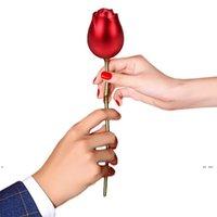 새로운 금속 장미 꽃 쥬얼리 상자 수 지 기본 선물 상자 포장 크리스마스 발렌타인 선물 선물 홈 장식 장식품