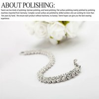 Heart Inset Diamond Austrian Crystal Roman Chain Bracelet Silver Plated Fashion Hipster Social Party Jewelry Valentine's Day Gift
