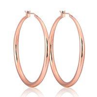 50mm jaune rose couleur or rose cercles grandes boucles d'oreilles créoles pour femmes filles bijoux pendientes aroses arètes oroturge hoop huggie