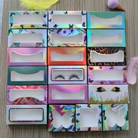 False Eyelashes 10 Pcs Eyelash Packaging Box Wholesale Lashes Boxes Empty Package Case 8-25mm Rectangle