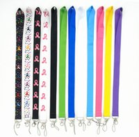 Wholesale 10PCS Blank the red ribbon keychain sling, Fashion mobile phone lanyard, exquisite work certificate neckband, trendy brands can be consulted
