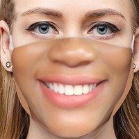 2021 Yeni Varış Yüz Serin Komik Yetişkinler Bir Maske Giymek İstemiyor Pretend Facemask Pamuk Maskeleri Sahte Gerçekçi Özel Zorlu Deniz Gemi DHE5902