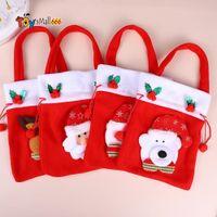 DHL быстрый рождественский яблочный мешок с рождеством конфеты подарочные сумки украшения дома красная печатная сумочка оптом