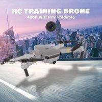 480p / 720p / 1080p Capacitación Wi-Fi FPV RC Drone One Tecla de retorno Quadcopter plegable para principiantes Regalo de Navidad Drones