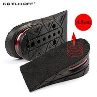 Accesorios de zapatos Kotlikoff Invisible Altura Aumento de la plantilla Ajustable 2 Capa 3 cm / 4.5cm Almohadillas de cojín de aire Almohadillas de elevador Plantas de plantas de plantillas para inserciones para
