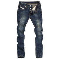 Men's Jeans Fall Retro Stretch Straight-leg Slim-fit Youth Casual Pants With Long Feet Trend
