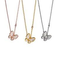 S925 Mode Classic Sweet Shell 4 / Vier-Blatt Klee Butterfly Halskette Malachit Anhänger Kette Für Womengirls Valentinstag Muttertag Engagement Schmuck Geschenk
