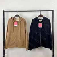 Hoodies dos homens moletom camisa regular do zíper de lapela camisa das mulheres com capuz de alta qualidade Moda de alta qualidade moda casual manga longa pulôver asiático tamanho m-xl